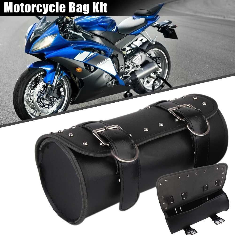 symboat Moto Sillí n Bolsa PU Piel Barril Equipaje Viaje Equipaje Moto Rollo Bolsas para Harley 1mj4aw0sn4md9jr7
