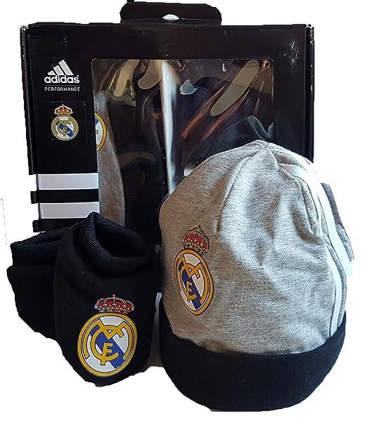 adidas Real Madrid Gift Juego de Baby Beanie Zapatos de Bebé Nuevo: Amazon.es: Ropa y accesorios