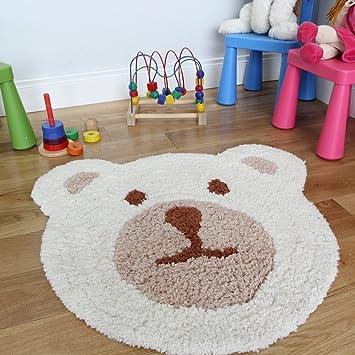 kinder teddybr cremefarben und beige dick superweich baby kinderzimmer teppich 75 x 80 cm - Teppich Babyzimmer Beige