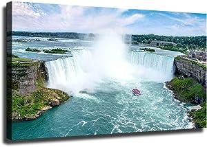 Home Decor Print Oil Painting on Canvas Wall Art Niagara Falls Waterfall (No Framed,8x12inch)