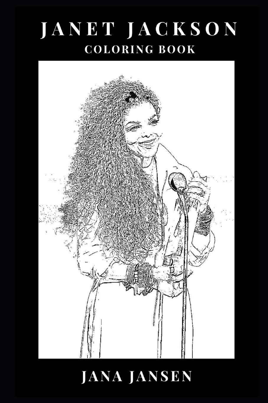 Janet Jackson Coloring Book Michael Jackson S Sister And Talented