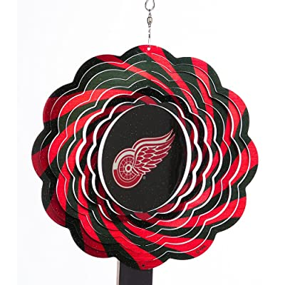 NHL Detroit Red Wings 10'' Geo Wind Spinner: Garden & Outdoor