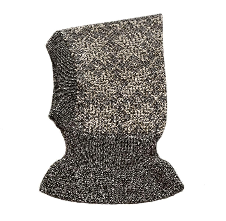 100% Merino Wool Balaclava Children Knit Winter Hat Scarf Ski