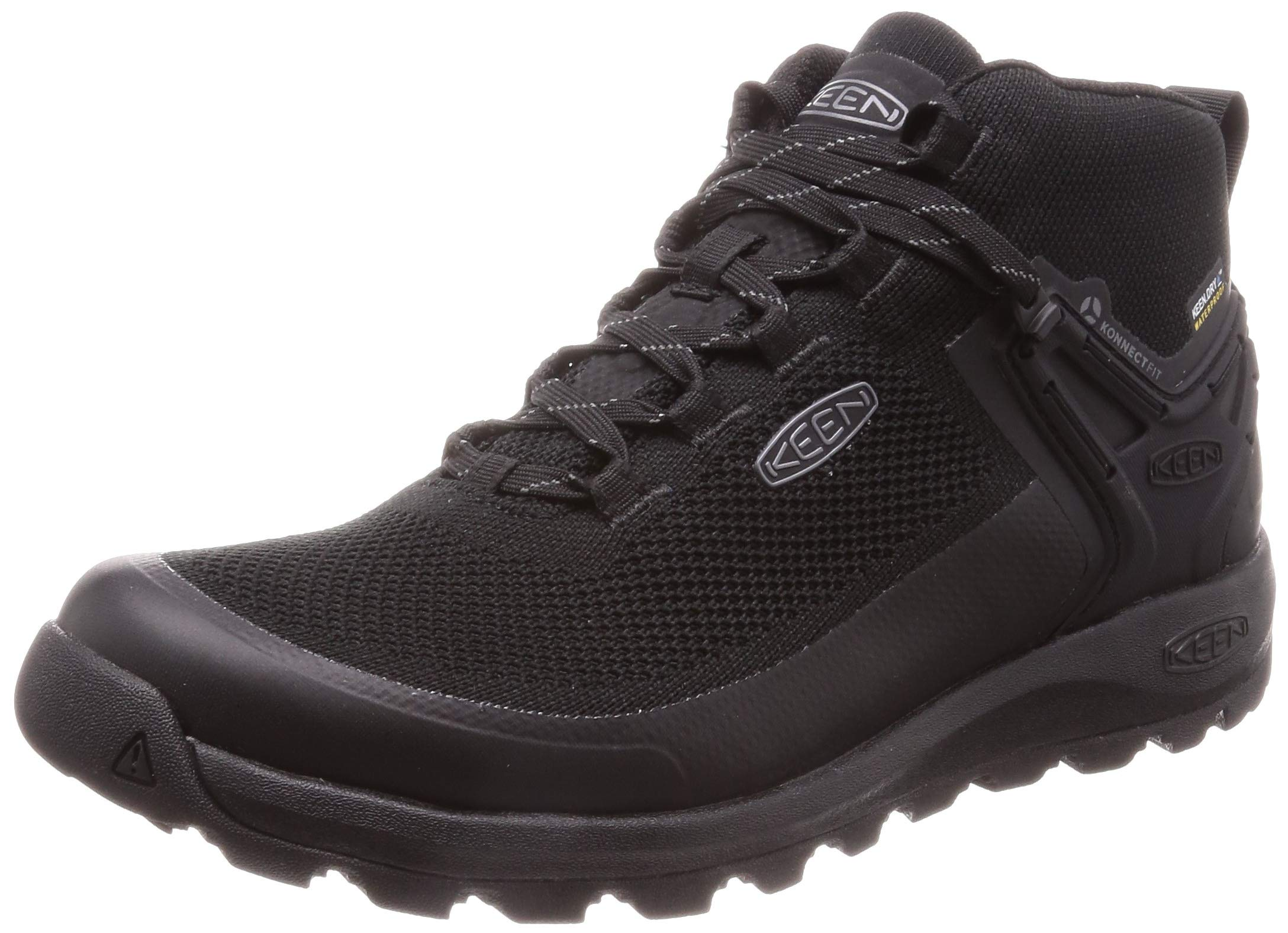 KEEN Men's Citizen EVO MID WP Fashion Boot, Triple Black, 13 M US