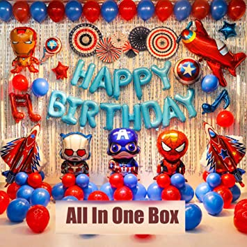 Superhero Party Decorations Avengers Birthday Party Supplies