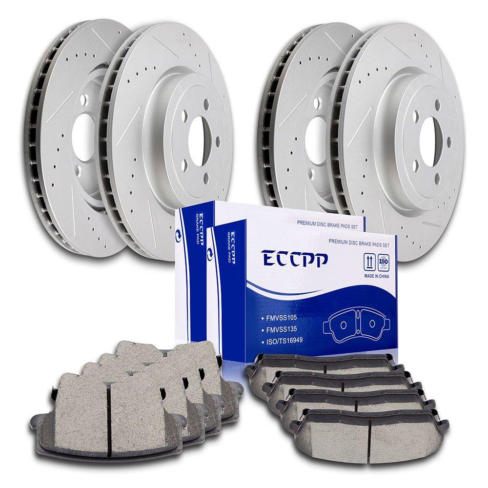 Brakes ECCPP 4pcs Front Rear Discs Brake Rotors and 8pcs Ceramic Disc Brake Pads Kit for 2011 Chrysler 300,2012 2013 2015 Dodge Challenger,2006 2007 2008 Dodge Charger,2005 2006 2007 2008 Dodge Magnum 803993-5211-1508451