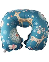 Ergonomic Designed Inflatable Travel Neck Pillow-2 Full Mouth Blow -Easy To Carry-Pocket Size Only 0.28 Pounds for Airplanes, Cars, Buses, Trains, Office Napping, Camping, Wheelchairs & Home
