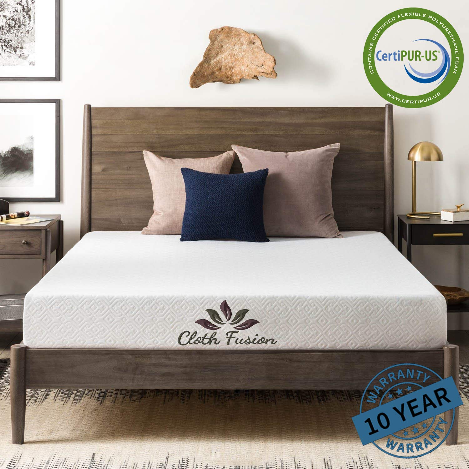 Cloth Fusion Furton Cooling Gel Memory Foam 6 inch Mattress-72X36 inch