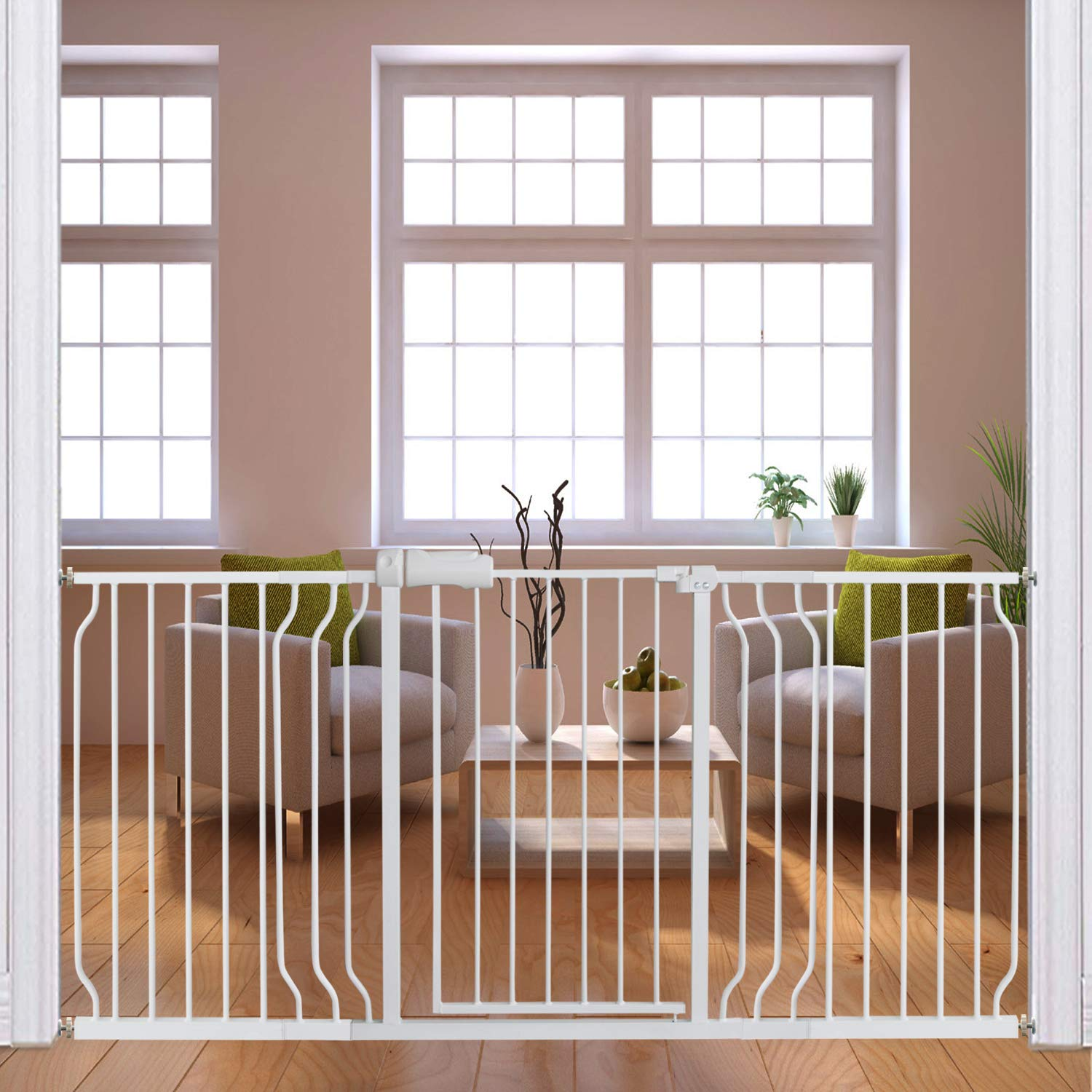 Fairy Baby Extra Wide Baby Gates 67 71 5 Inch Auto Close Child Safety Gates For Stairway Banister Doorways Hallway Indoor Safety Child Gates For Kids Or Pets Baby