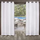Exclusive Home Curtains Miami Indoor Outdoor Textured Sheer Grommet Top Window Curtain Panel Pair