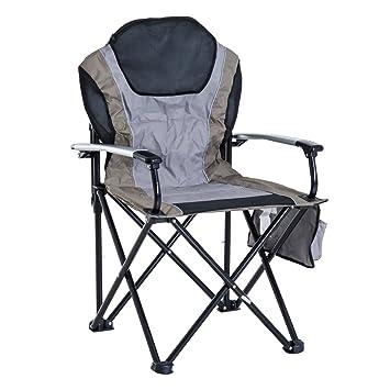 Outsunny Exterior de aluminio plegable acolchado silla de ...