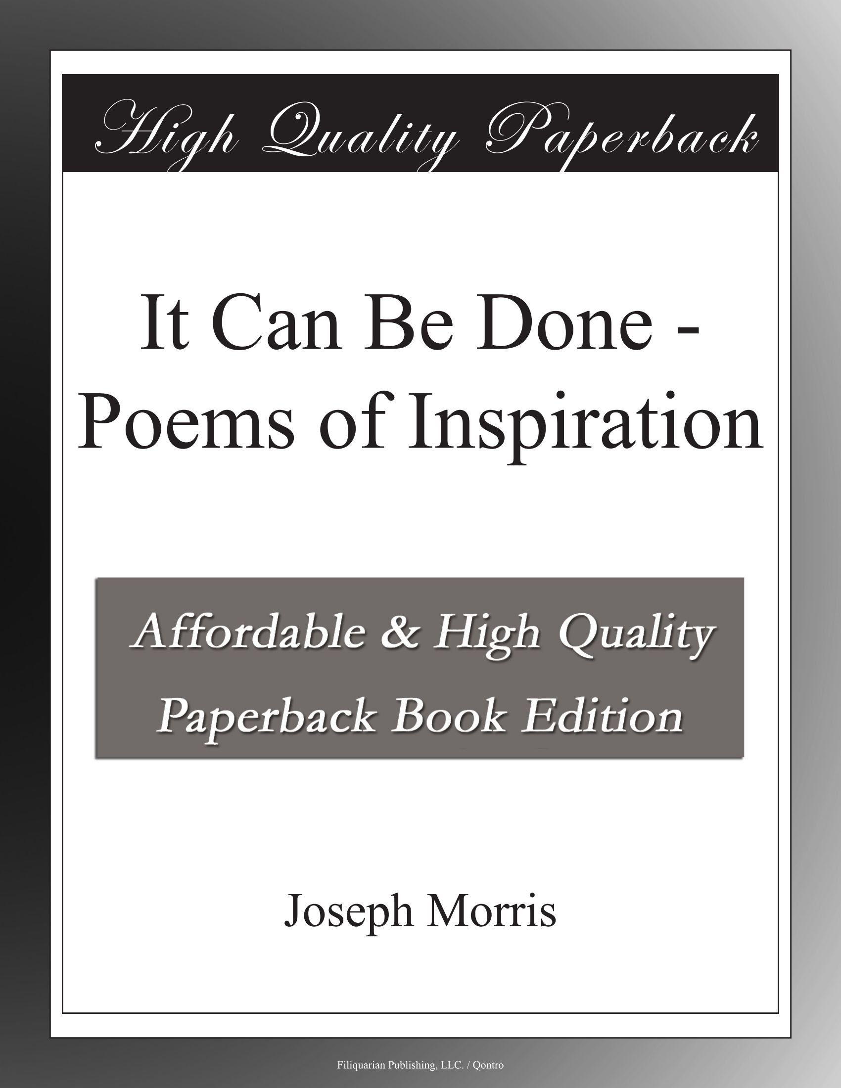 It Can Be Done - Poems of Inspiration PDF
