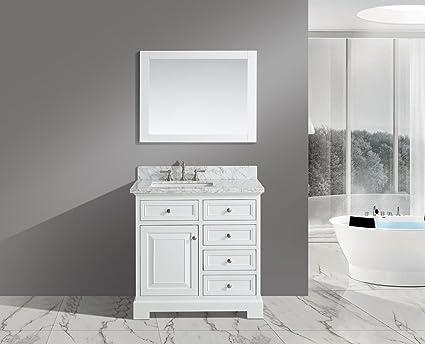 Amazoncom UrbanFurnishingnet Rochelle Inch Bathroom - 36 inch marble tile