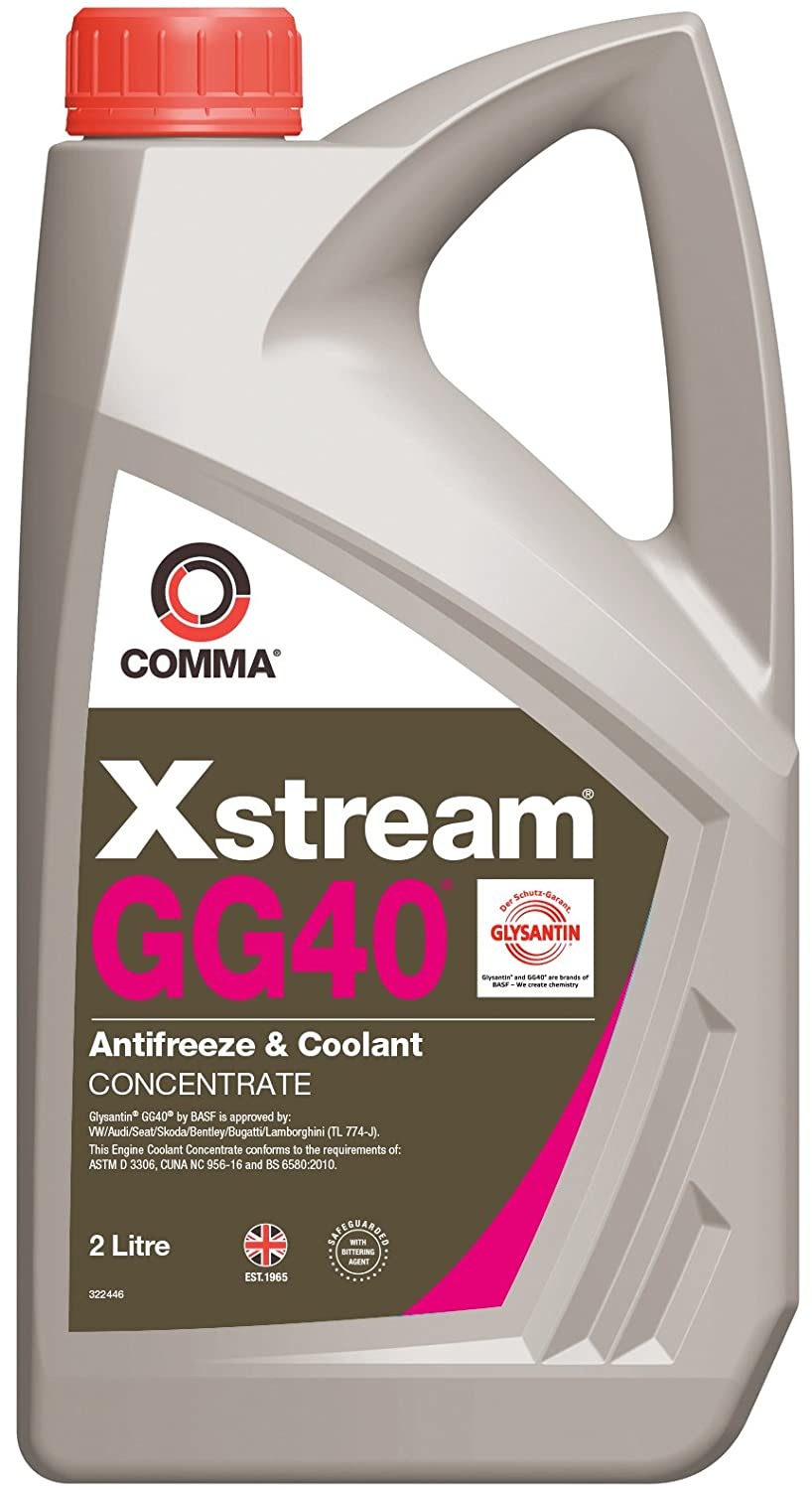 Comma XSGG402L Xstream Concentrated Antifreeze and Coolant, 2 Liters