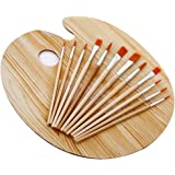 Kurtzy Professional 12Pc Painting Brush Set for Watercolor/Acrylics/Oil Painting/Craft Art Face Painting-FREE Painting Palette
