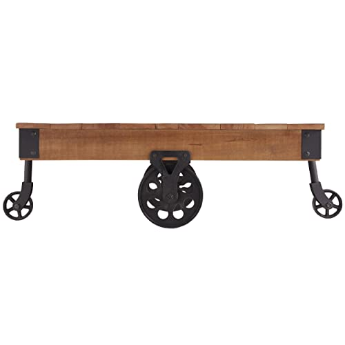 Charmant Homelegance Factory Modern Industrial Style Coffee Table, Rustic Brown