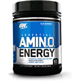 OPTIMUM NUTRITION ESSENTIAL AMINO ENERGY, Blue Raspberry, Keto Friendly BCAAs, Preworkout and Essential Amino Acids, 65 servings, 1.29 lbs
