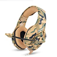 ONIKUMA K1 Stereo Gaming Headphone Over-ear Headset with Mic Noise Cancelling Clear Sound Heavy Bass for Computer Game, Laptop, Tablet, PS4, Xbox One