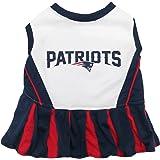 Pets First New England Patriots Pet Cheerleader Uniform, Medium
