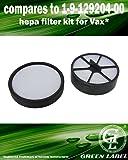 HEPA Filterset (Vor- und Nachmotorfilter) für Vax Mach Zen Staubsauger. (Vergleichbar mit 1-9-129204-00). Original Green Label Produkt.
