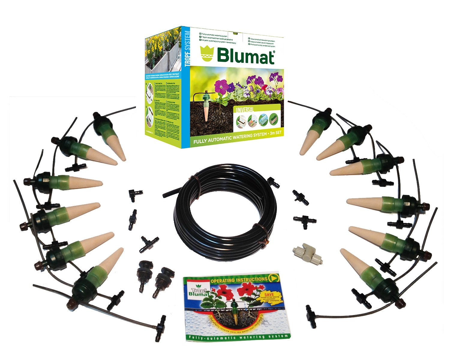 Blumat - 12 Plant Watering System - Deluxe Full Loop Kit - Made in Austria - Great for Automatic Vacation Watering