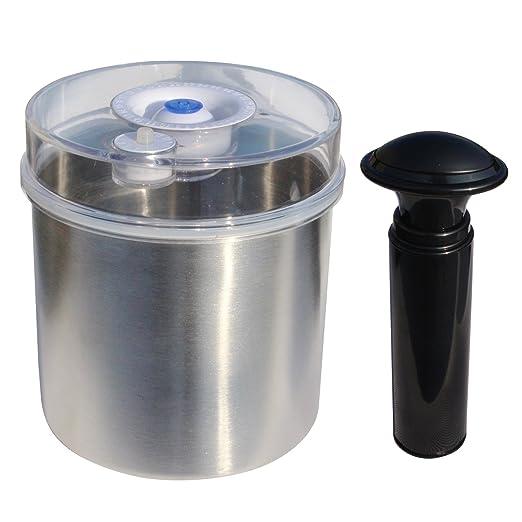Push-Type Cilindro Vacío Contenedor de alimentos de acero ...