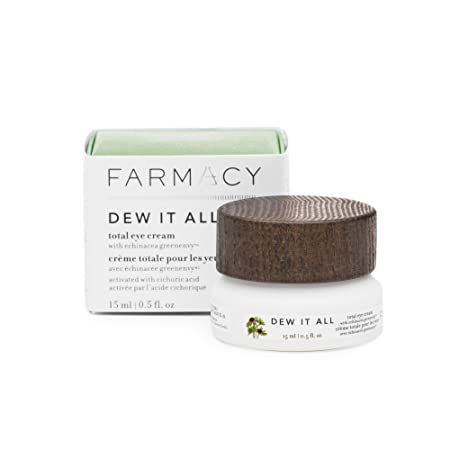 Farmacy Dew It All Total Eye Cream – Moisturizing Natural Under Eye Cream for Lines Wrinkles