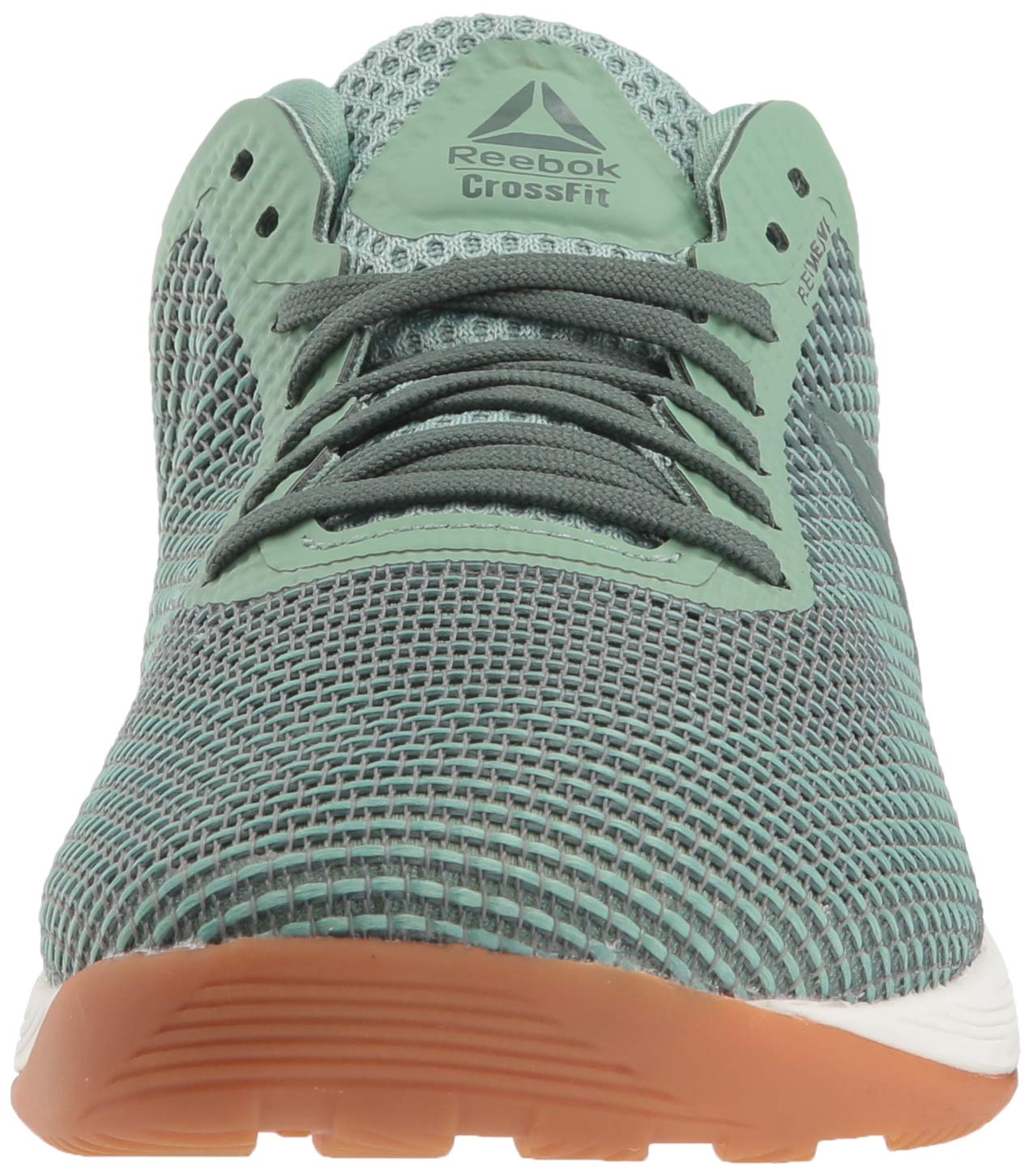Reebok Women's CROSSFIT Nano 8.0 Flexweave Cross Trainer, industrial green/chalk grey, 5 M US by Reebok (Image #4)