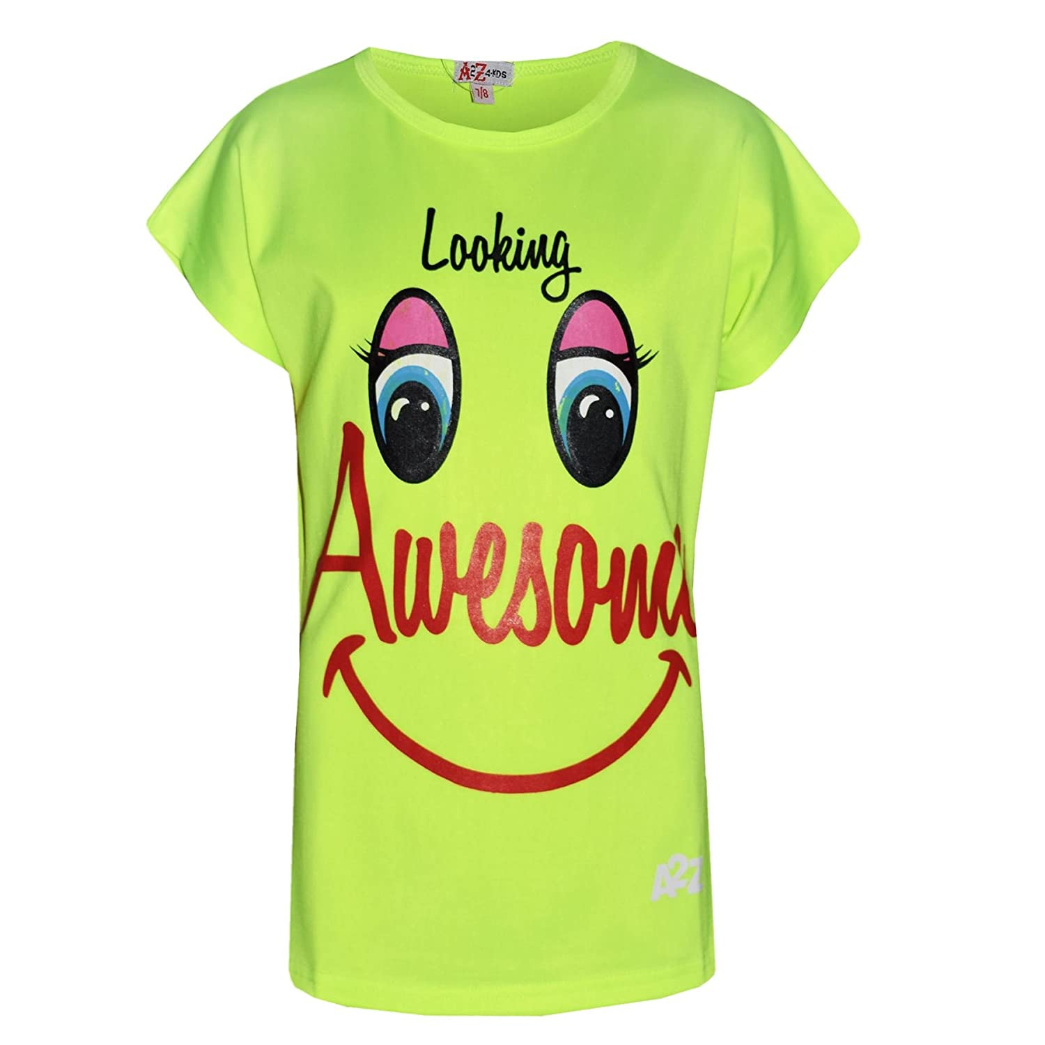 A2Z 4 Kids® Girls Top Looking Awesome Print Short Sleeves T Shirts