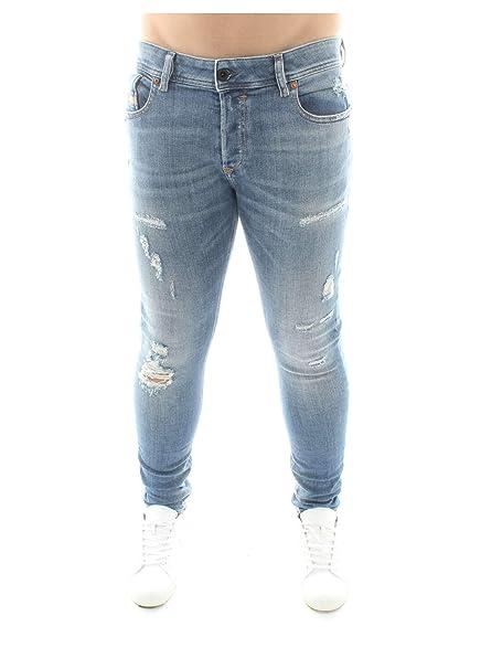 bdae3399 Diesel Men's Sleenker L.30 Trousers Skinny Jeans, Blau Blue Denim 01, 29W