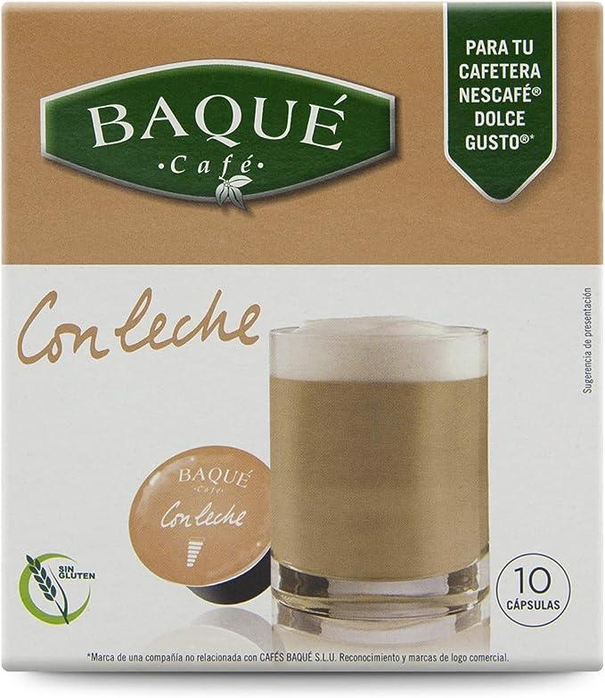 Cafés Baqué Capsulas Compatibles Dolce Gusto con Leche 40 Unidades ...