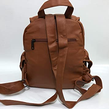 a9a65bddcb04f Yıkanmış deri yerli üretim bayan sırt çantası ebat 35 cm 28 cm:  Amazon.com.tr