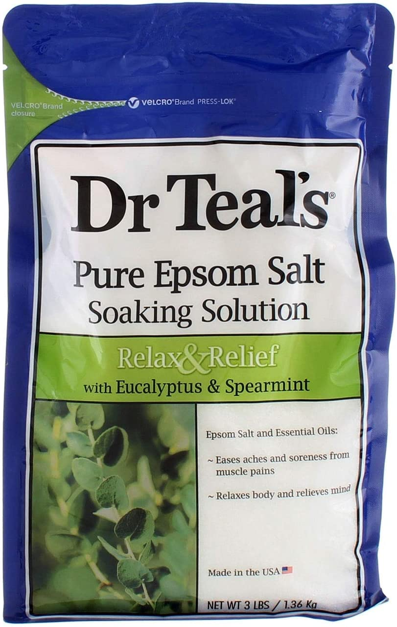 Dr. Teal's Epsom Salt Soaking Solution With Eucalyptus Spearmint, 48 Ounce, Pack of 2: Health & Personal Care