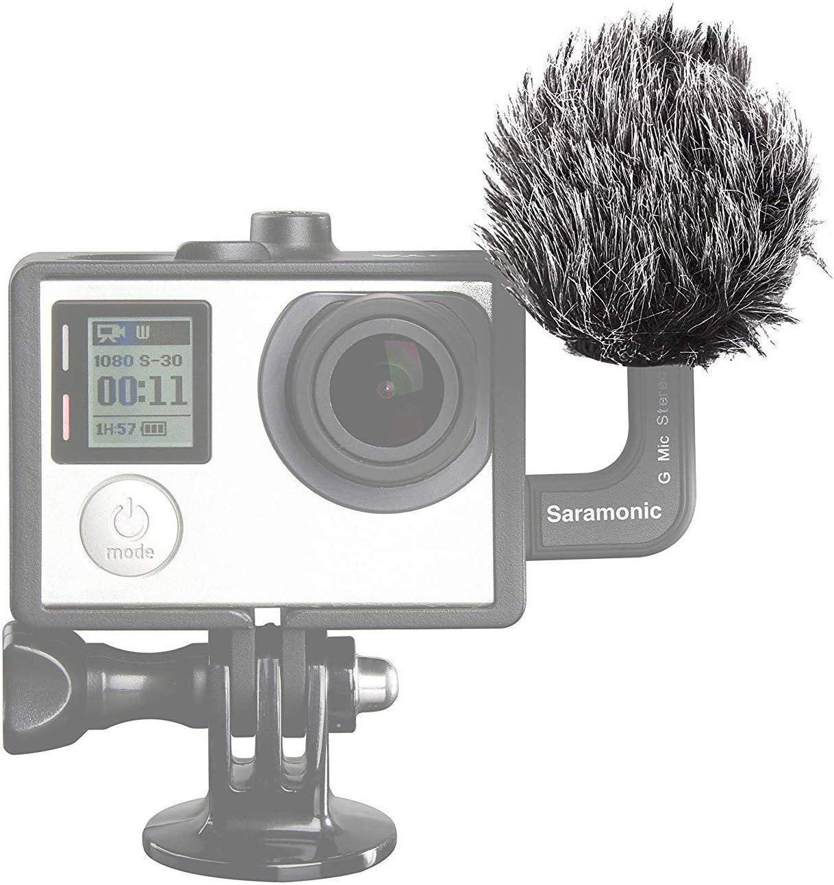 Saramonic G-Mic Stereo Ball Gopro Microphone with Foam /& Furry Windscreens for GoPro HERO3 HERO3 and HERO4