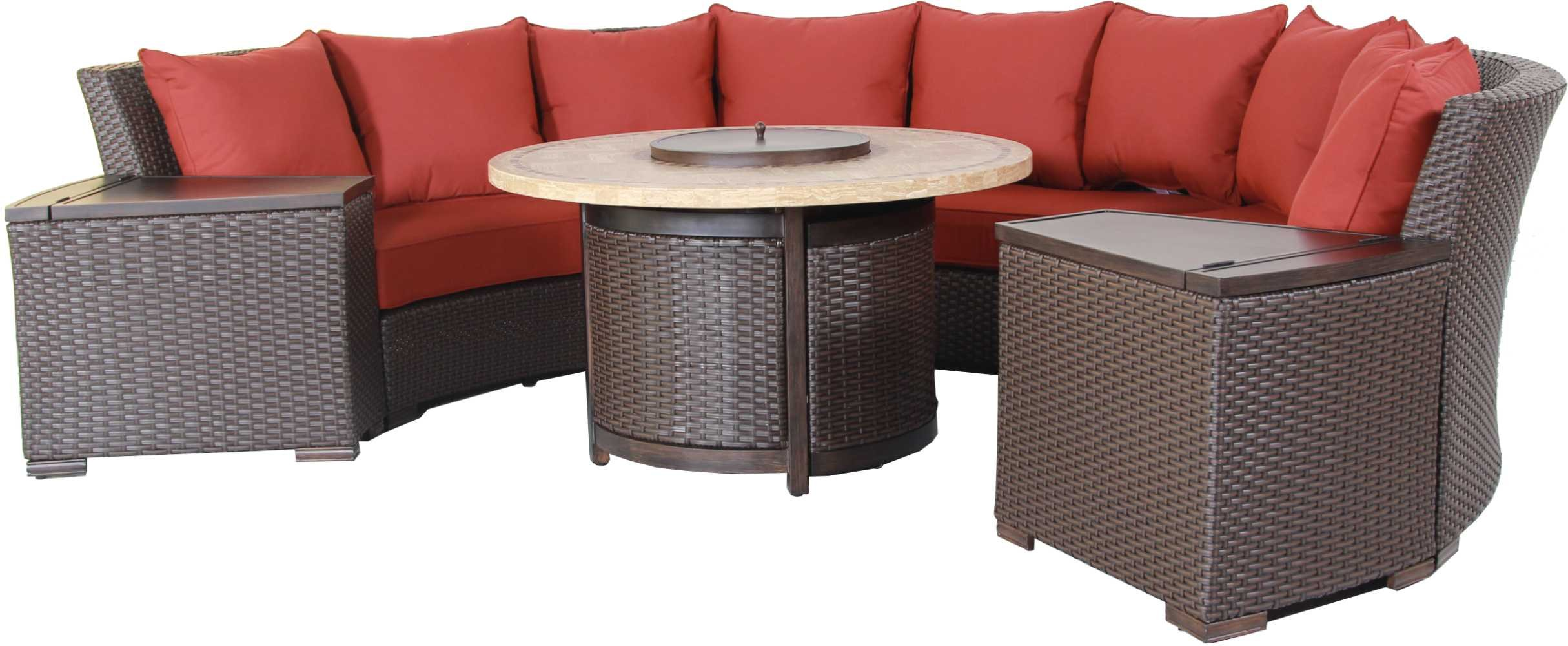 Bermuda 6-Piece Circular Sofa Set (Canvas Spa)