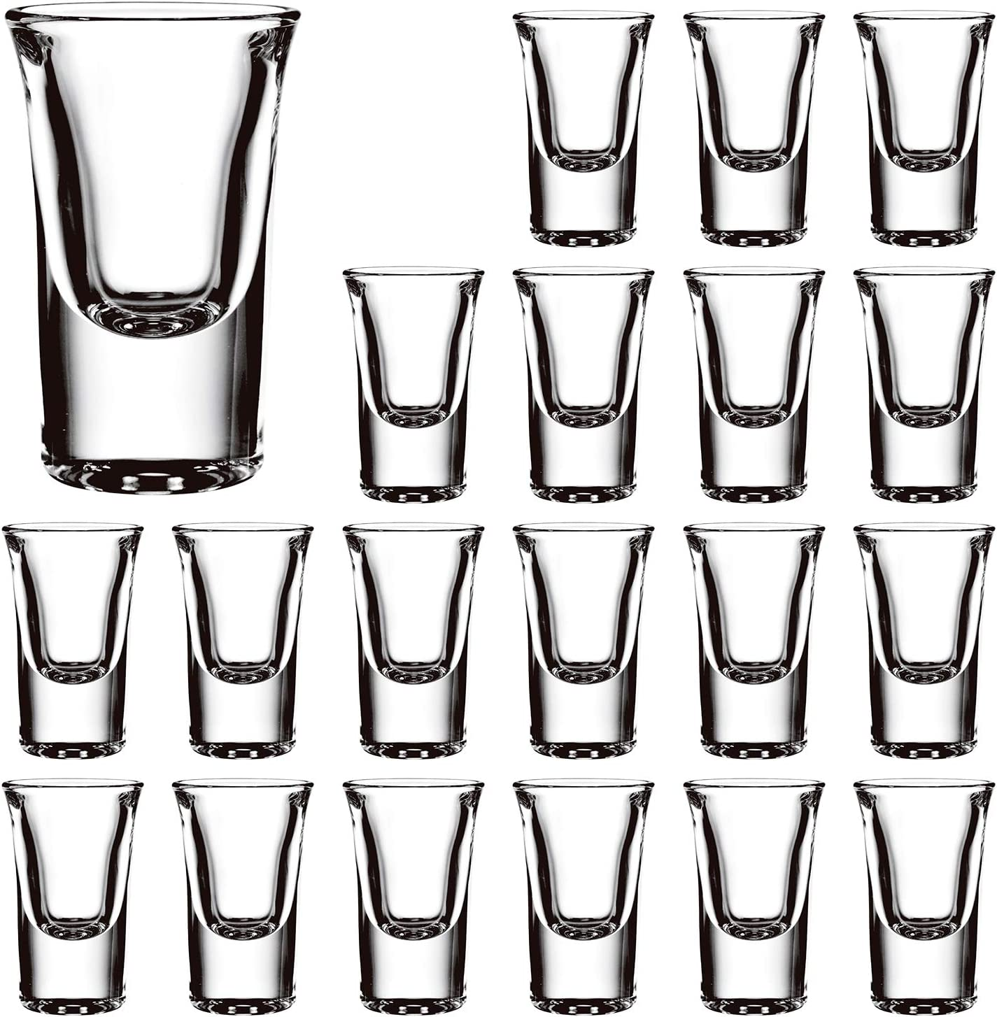 Amazon Com 0 8 Ounce Heavy Base Shot Glass Set Qappda Whisky Shot Glasses 0 8 Oz Mini Glass Cups For Liqueur Double Side Cordial Glasses Tequila Cups Small Glass Shot Cups Set Of