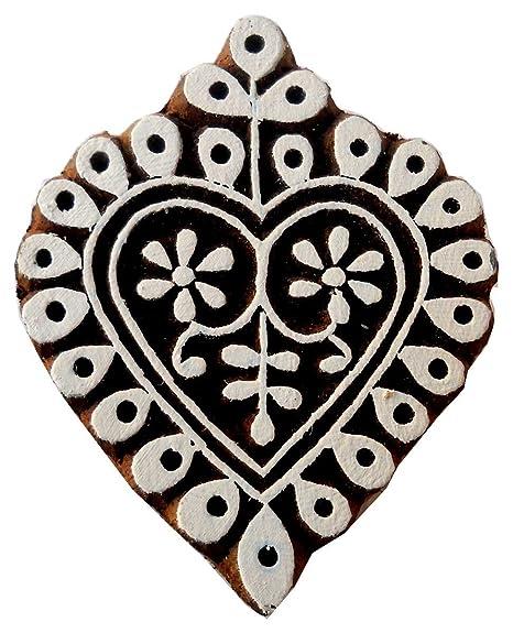 Sello de bloque de madera con forma de concha/tatuaje/bloque de ...