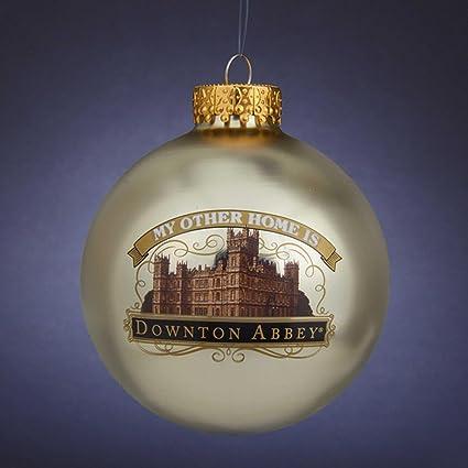 """Kurt Adler 3.25"""" Gold Downton Abbey Highclere Castle Christmas Ball  Ornament - Amazon.com: Kurt Adler 3.25"""