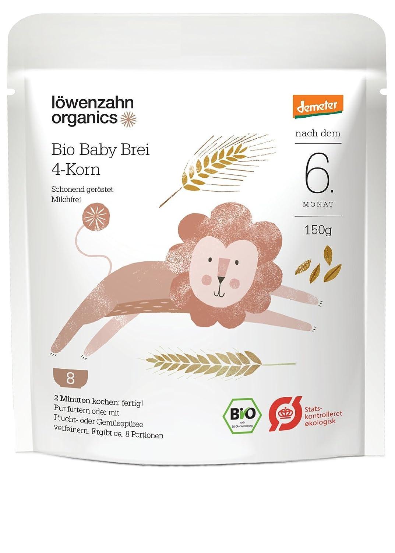 Löwenzahn Organics Demeter Baby Brei 4-Korn 6+ Monate Löwenzahn Organics GmbH