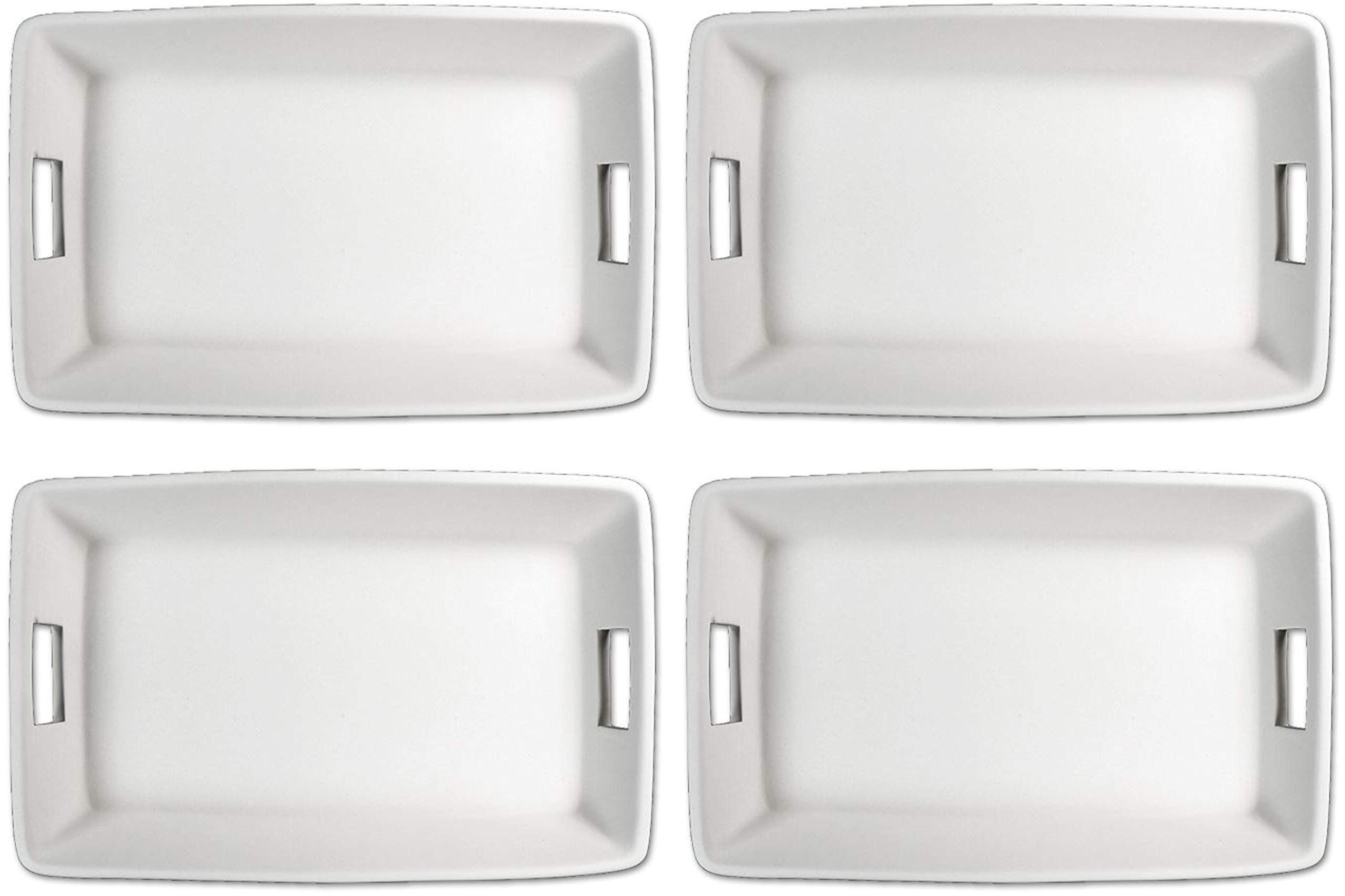 Stock Your Ceramic Studio - Set of 4 - Traditional Country Style Small Rectangle Serving Platter - Paint Your Own Ceramic Keepsake by New Hampshire Craftworks