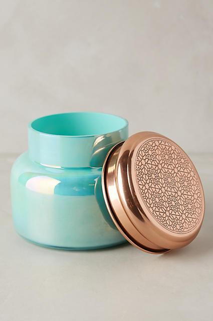 Capri Blue Iridescent Jar Candle - anthropologie.com