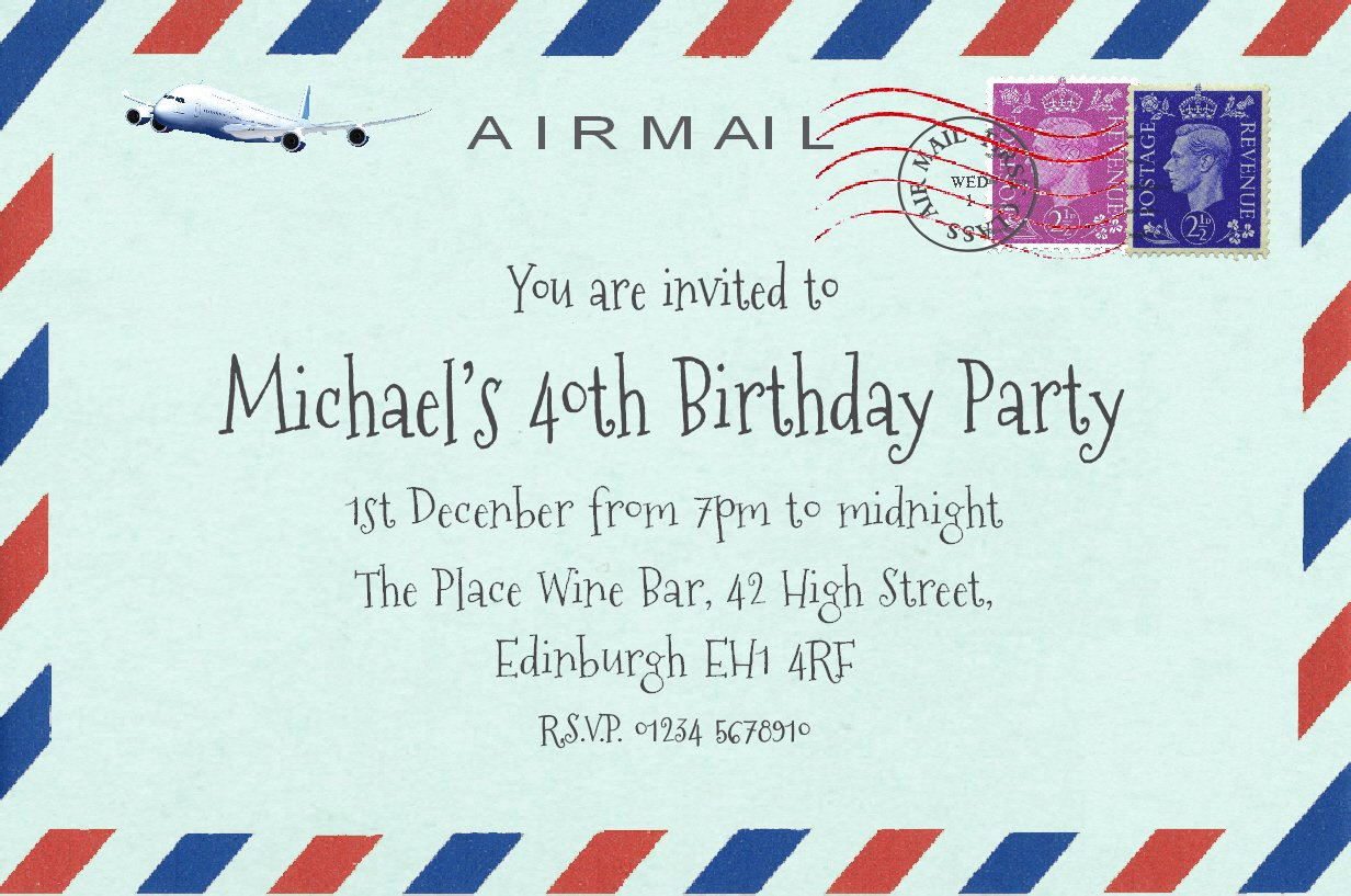 50 BIRTHDAY INVITATIONS Personalised for You. Quality Card Invites for 18th 21st 30th 40th 50th 60th 70th... Birthday Party Invitations. Adult Party Invites with Free Envelopes. The Save the Date People