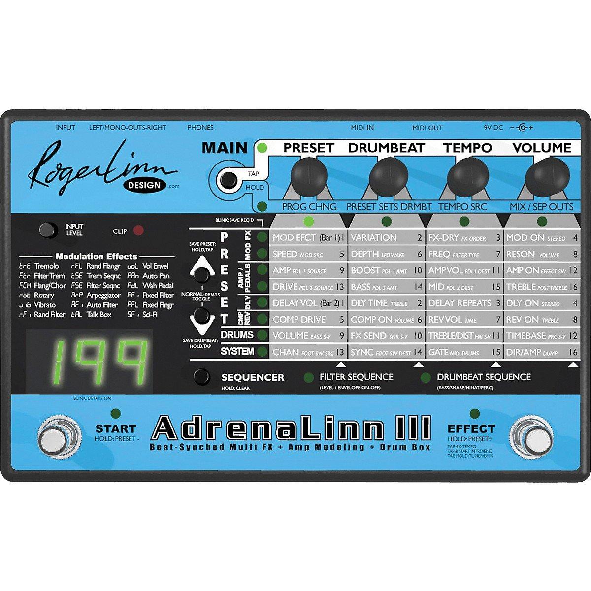Roger Linn Design Adrenalinn Iii Guitar Effects Wah Pedal 1993 Processor Musical Instruments