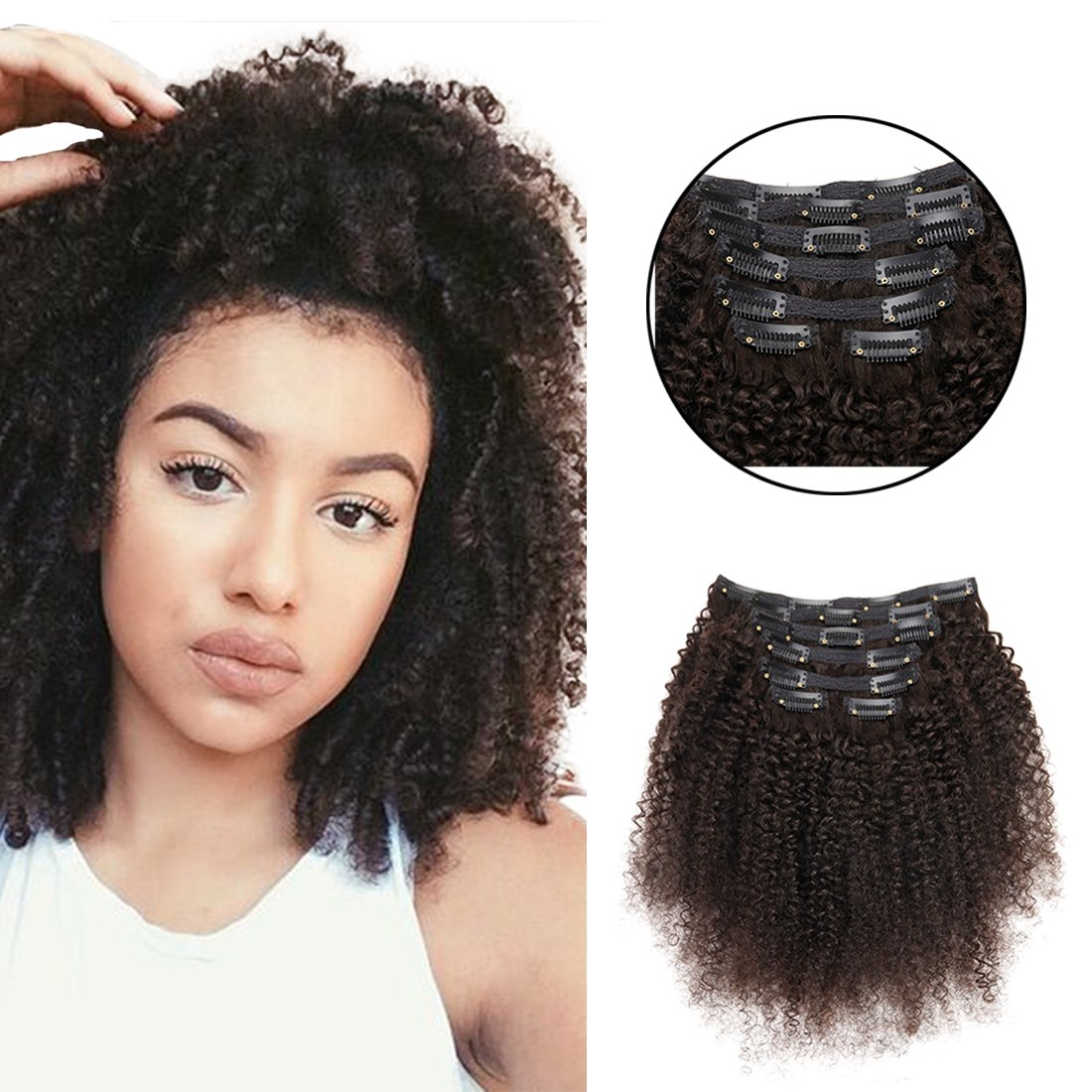 Amazon African American Short Kinky Curly Clip In Hair