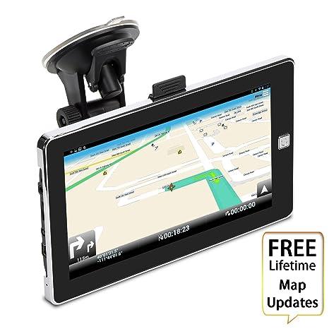 7 pulgadas coche navegación GPS, adiprod 8 GB actualización de mapas de por vida Sat