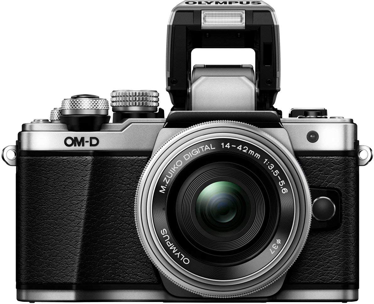 + M.Zuiko 14-42mm EZ Zoomobjektiv M.Zuiko 40-150mm Telezoom Micro Four Thirds Systemkamera Olympus OM-D E-M10 Mark II Kit 16 Megapixel, 5-Achsen Bildstabilisator, elektronischer Sucher schwarz