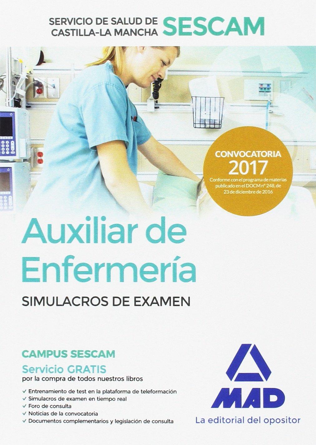 Download Auxiliar de enfermería del Servicio de Salud de Castilla-La Mancha (SESCAM). Simulacro de examen pdf