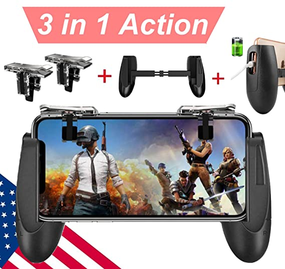 Mobile Game Controller Upgrade Version Mobile Gaming Trigger For Pubg Fortnite Rules Of Survival Gaming Grip And Gaming Joysticks For 4 5 6 5inch