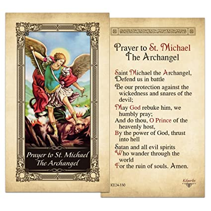 St Michael the Archangel Laminated Prayer Card - Pack of 10