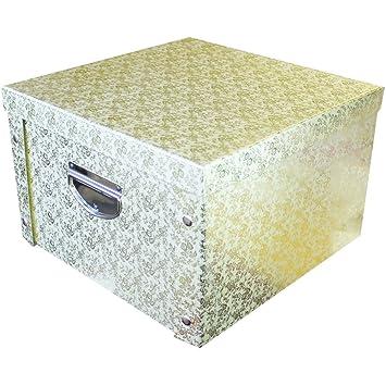 sc 1 st  Amazon UK & Gold Floral Glitter Collapsible Storage Box: Amazon.co.uk: DIY u0026 Tools